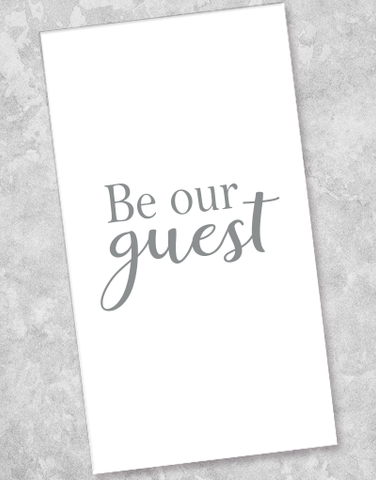 Our Guest Silver Guest Towel Napkins (36 Count)
