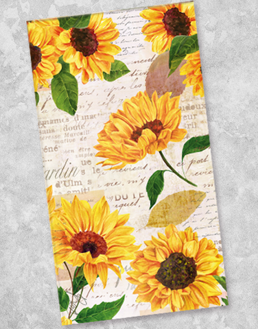 Soft Sunflowers Guest Towel Napkins (40 Count)