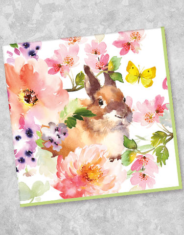 Bunny & Blossoms Luncheon Napkins (44 Count)