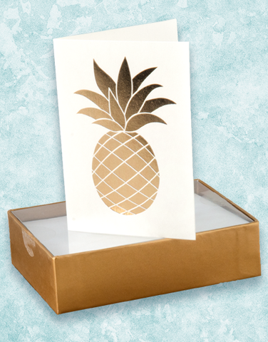 Shiny Pineapple Note Cards