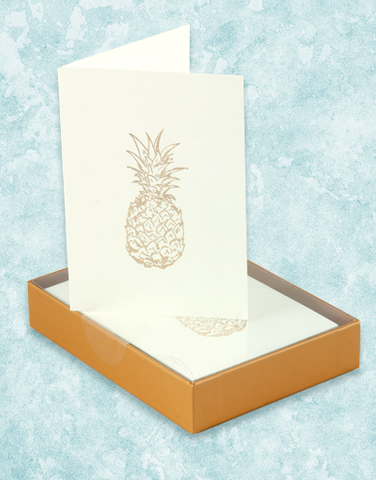 Golden Pineapple Note Cards