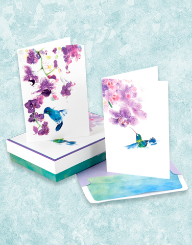Hummingbird Dream Deluxe Note Card Set