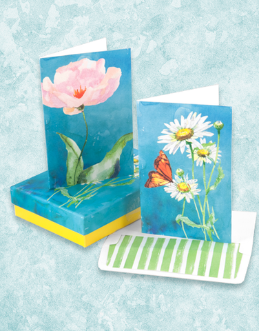 Artistic Floral Deluxe Note Card Set