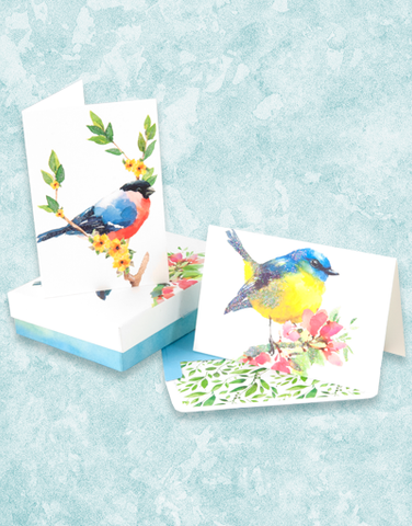 Watercolor Wings Deluxe Note Card Set