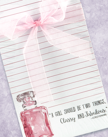 Classy and Fabulous Shopping List Pads
