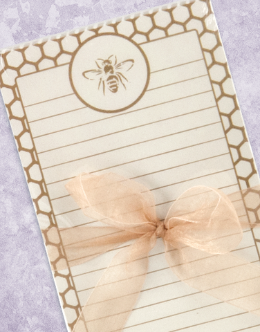Golden Bee Shopping List Pads