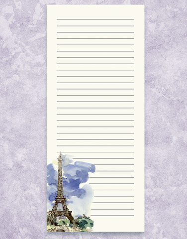 Watercolor Eiffel Tower Shopping List Pads