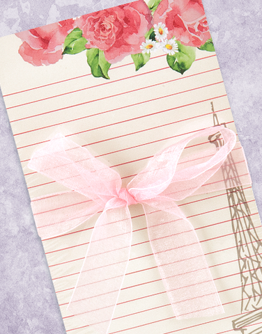 Parisian Blossom Shopping List Pads