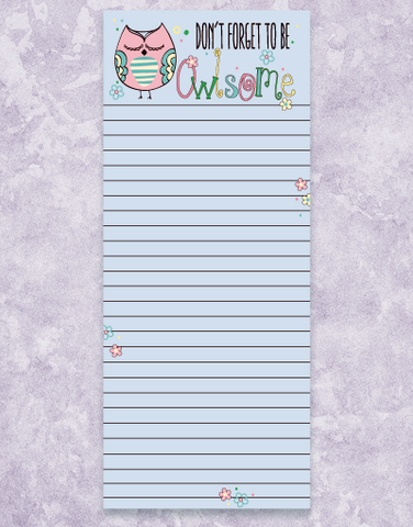 Owlsome Shopping List Pads