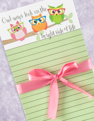 Bright Side Owls Shopping List Pads