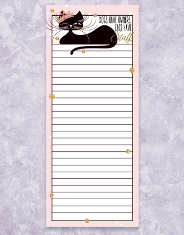 Cats Have Staff Shopping List Pads