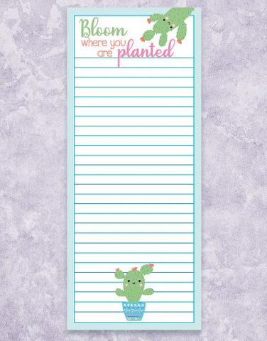 Cactus Bloom Shopping List Pads