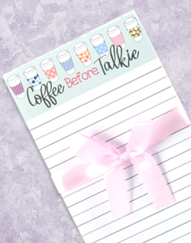 Coffee Before Talkie Shopping List Pads