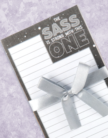 The Sass Shopping List Pads