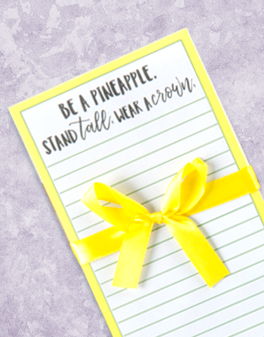 Be A Pineapple Shopping List Pads