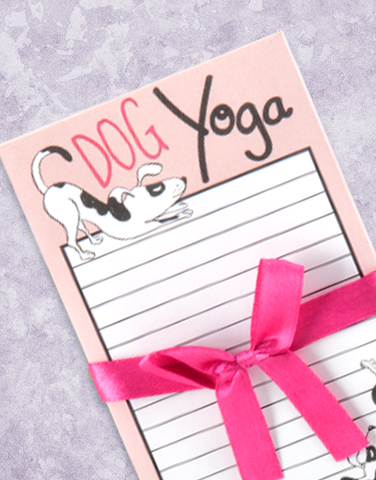 Dog Yoga Shopping List Pads