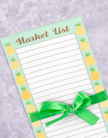 Pineapple Fun Shopping List Pads