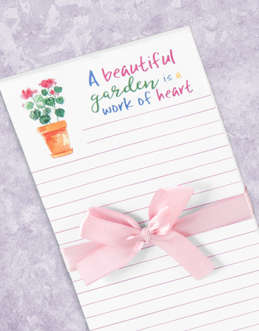 Beautiful Garden Shopping List Pads