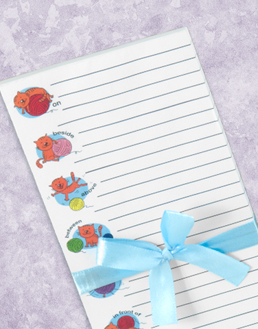 Cat Prepositions Shopping List Pads