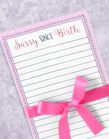 Sassy Since Birth Shopping List Pads