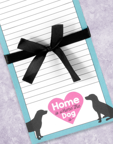 Home Is Where The Dog Is Shopping List Pads