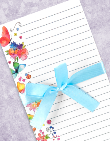 Bright Flutters Shopping List Pads