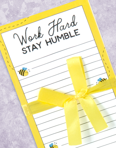 Stay Humble Shopping List Pads