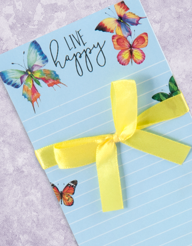 Butterflies Live Happy Shopping List Pads