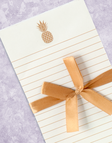 Sweet Pineapple Shopping List Pads
