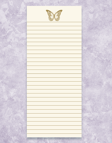 Golden Butterfly Shopping List Pads