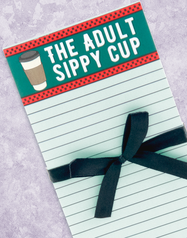 Adult Sippy Cup Shopping List Pads