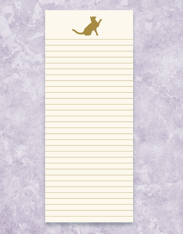 Golden Cat Shopping List Pads