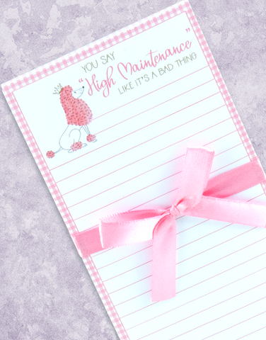 Fabulous Poodle Shopping List Pads