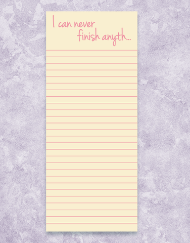 Finish Anything Shopping List Pads