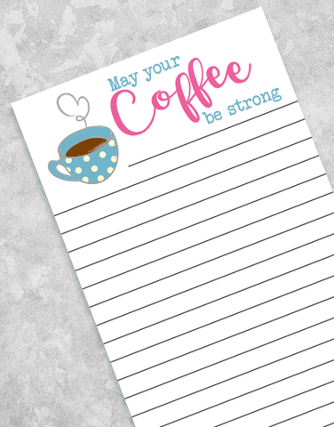 Short Monday Shopping List Pads