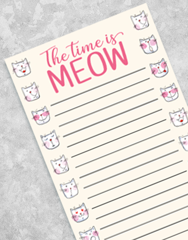Time Is Meow Shopping List Pads