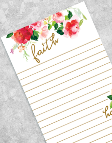 Faith Hope Love Shopping List Pads
