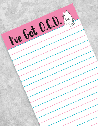 I've Got OCD Shopping List Pads