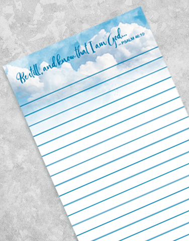 Know I Am God Shopping List Pads