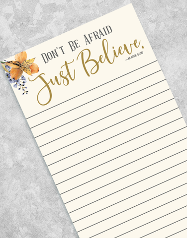 Just Believe Shopping List Pads