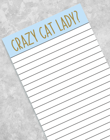 Crazy Cat Lady Shopping List Pads
