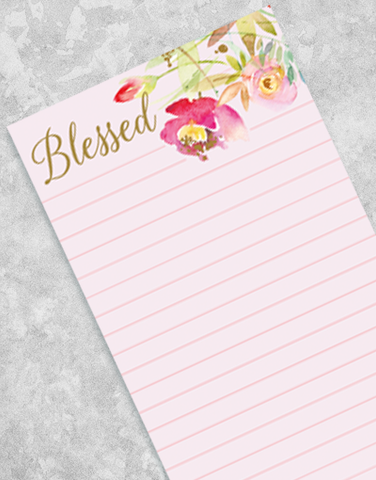 Soft Blooms Shopping List Pads