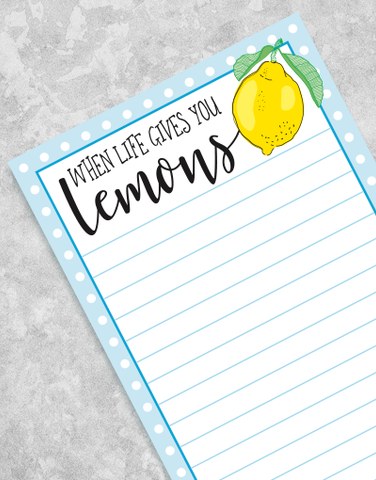 Lemons for Coffee Shopping List Pads