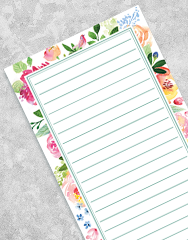 Floral Floral Shopping List Pads
