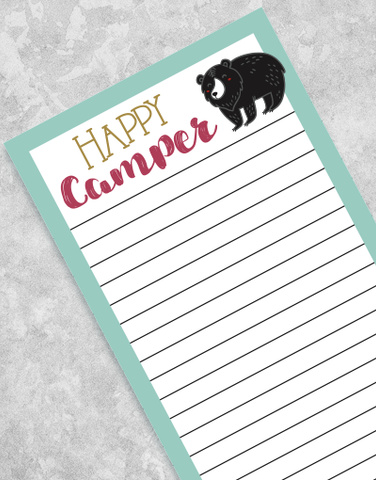Happy Camping Shopping List Pads