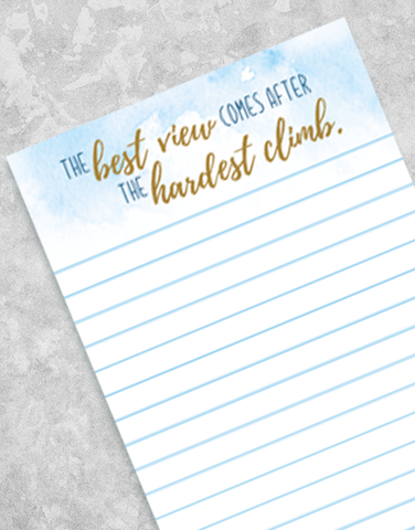Hardest Climb Shopping List Pads