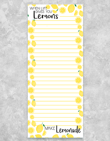 Blueink Studios Make Lemonade Shopping List Pads