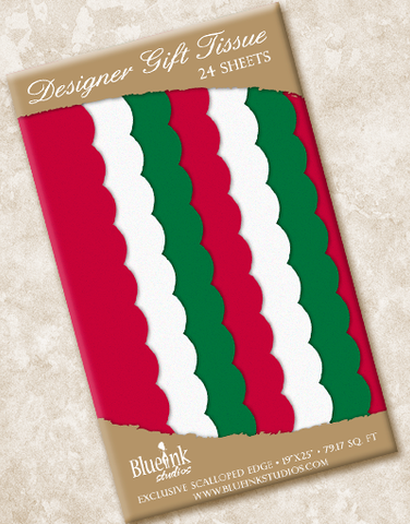 Holiday Scalloped Tissue Paper