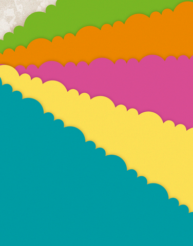 Hot Hues Scalloped Tissue Paper