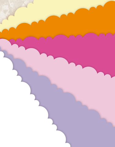 Sherbert Scalloped Tissue Paper
